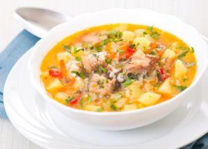 Суп с рисом и рыбой