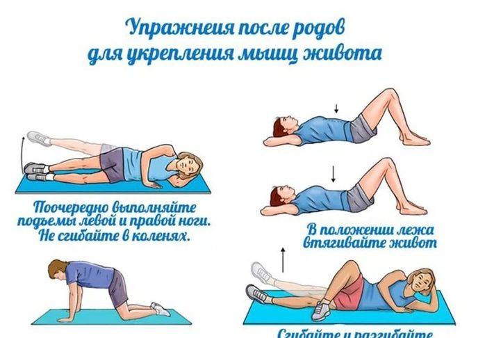 Упражнения для подтяжки живота после родов