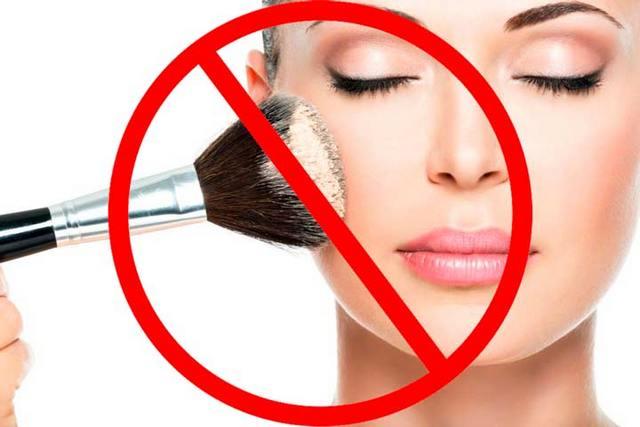 запрещено пользоваться косметикой после биоревитализации