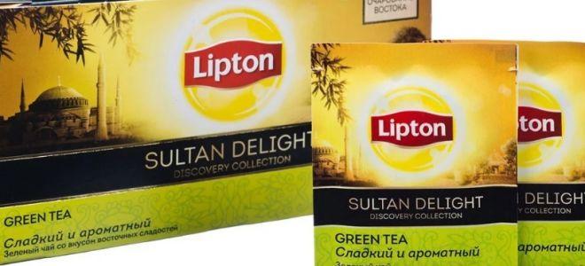Зеленый чай Липтон (Lipton): виды, калорийность