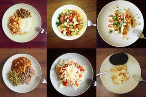 6 порций еды
