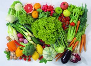 Зелень, фрукты и овощи