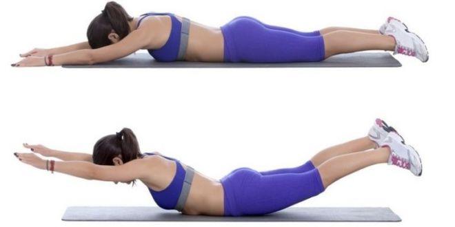 Упражнение для спины лодочка