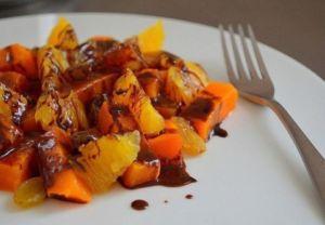 Салат из тыквы и апельсина