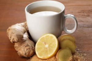 Чай с добавлением имбиря и лимона