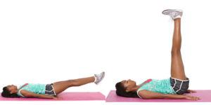 Подъем ног под прямым углом с пульсацией