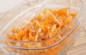 Салат из тыквы и яблока