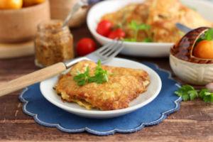 Отбивная курица с овощами