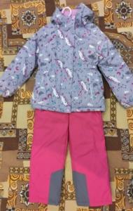 Комплект Футурино для девочек куртка и полукомбинезон: отзыв и подробные фото