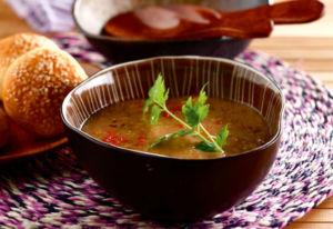 Суп с баклажаном и кабачком