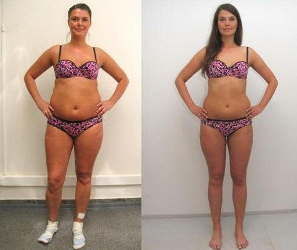 Фото до и после диеты 5 ложек